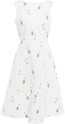 Erdem Maia Embroidered Cotton-blend Matelasse Dress