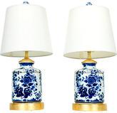 One Kings Lane Vintage,  Blue/white, In Stock