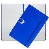 Pantone NEW Dazzling Blue Large Ruled Elastic Band Notebook