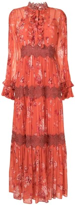 Alexis Floral-Print Tiered Maxi Dress