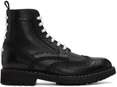 Givenchy Black Commando Derby Boots