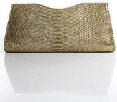 LAI Beige Python Skin Clutch Handbag Size Small