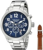 Nautica Men's NAD18509G NCC 01 Chrono Analog Display Quartz Blue Watch