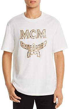MCM Metallic Trimmed Logo Applique Tee