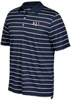 adidas Men's Kansas Jayhawks Textured Golf Polo