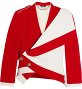 Alexander McQueen Asymmetric Wool And Silk-blend Jacket - Red