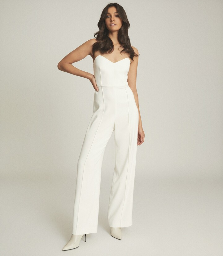 Thumbnail for your product : Reiss Bea - Buckle Detail Jumpsuit in White