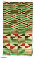 Cotton kente cloth, 'Dexterous Weavers'