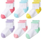 Jefferies Socks Performance Tech Sport Quarter 6-Pack Girls Shoes