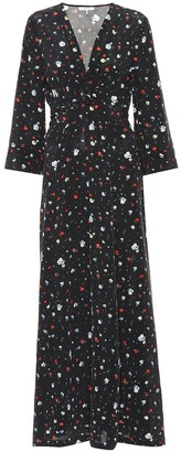 Ganni Nolana floral silk dress