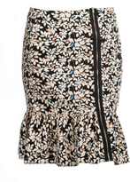 Manon Baptiste Plus Size Cotton skirt with flower print