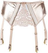Loveday London - suspender cropped corset - women - Lamb Skin/Polyamide/Viscose - S