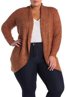 Planet Gold Shawl Collar Cardigan (Plus Size)