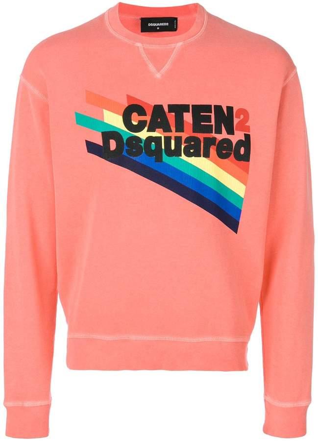 DSQUARED2 Caten rainbow print sweatshirt