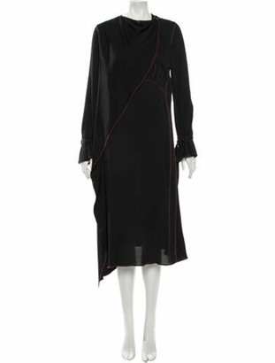 Sies Marjan Cowl Neck Long Dress Black