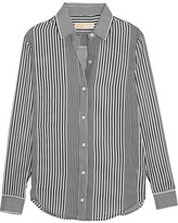 MICHAEL Michael Kors Corsican Striped Chiffon Shirt - Black