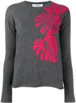 Valentino cashmere palm leaf intarsia jumper - women - Cashmere - XXS
