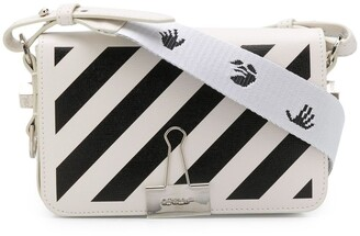 Off-White Diagonal Binder Clip mini leather crossbody bag