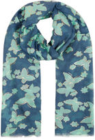 Yours Clothing YoursClothing Plus Size Womens Ladies Butterfly Print Scarf Gold Foil Detail