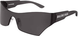 Balenciaga Men's Injection Rectangle Shield Sunglasses