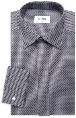 Eton Soft Casual Slim-Fit Micro Skull-Print Evening Shirt