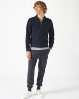 Jigsaw Half Zip Pique Sweater