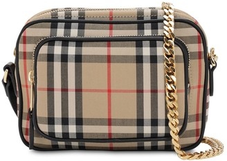 Burberry SMALL CHECK COTTON CANVAS CAMERA BAG