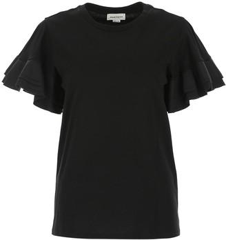 Alexander McQueen Ruffle Sleeve Top