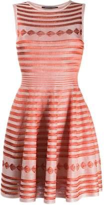 Valenti Antonino embroidered flared dress