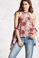 Forever 21 FOREVER 21+ Contemporary Floral Halter Top
