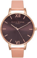 Olivia Burton Brown Dial Dusty Pink & Rose Gold Watch