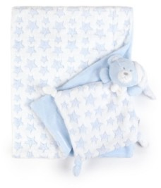 Tadpoles Plush Comfort Baby Security Blanket Lovie 2 Piece Set