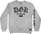 DGK Men's Til Death Fleece Sweatshirt Gun Metal Grey M