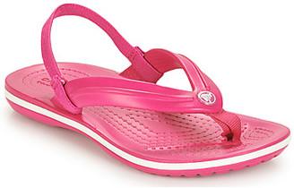 Crocs CROCBAND STRAP FLIP K girls's Flip flops / Sandals in Pink