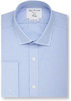 T.M.Lewin Men's Gingham Fully Fitted Classic Collar Formal Shirt