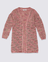 Marks and Spencer Longline Knitted Cardigan (3-14 Years)