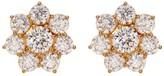 Nadri CZ Flower Stud Earrings