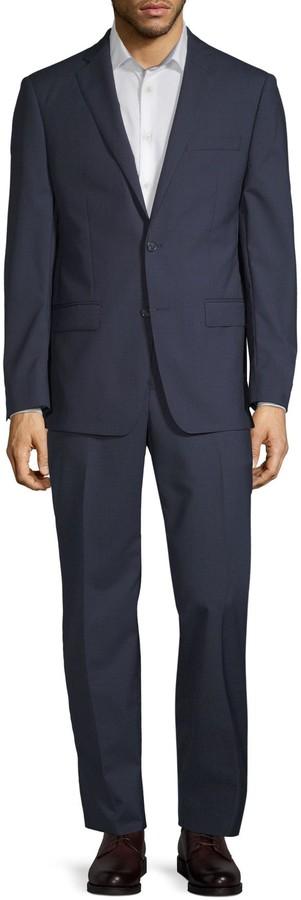 Michael Kors Slim-Fit Mini Grid Wool Suit