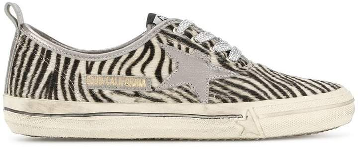 Golden Goose zebra print sneakers