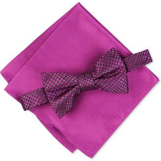 Alfani Men Hudson Abstract Bow Tie & Pocket Square Set