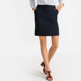 La Redoute Collections Straight Stretch Skirt with Pockets
