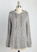 ModCloth Snuggled in Softness Knit Top in Pebble in L