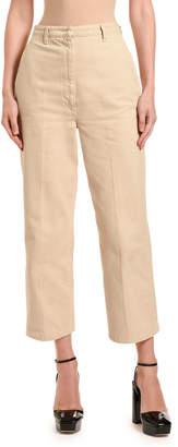 Prada Straight-Leg Denim Safari Pants