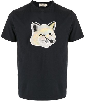 MAISON KITSUNÉ embroidered fox patch T-shirt