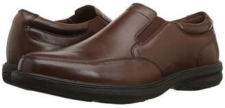 Nunn Bush Myles Street Moc Toe Slip-On with KORE Slip Resistant Walking Comfort Technology (Black) Men's Slip-on Dress Shoes