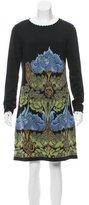 Alberta Ferretti Virgin Wool Floral Dress w/ Tags