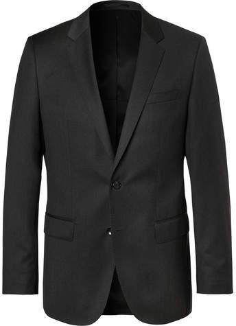HUGO BOSS Grey Hayes Slim-Fit Super 120s Virgin Wool Suit Jacket