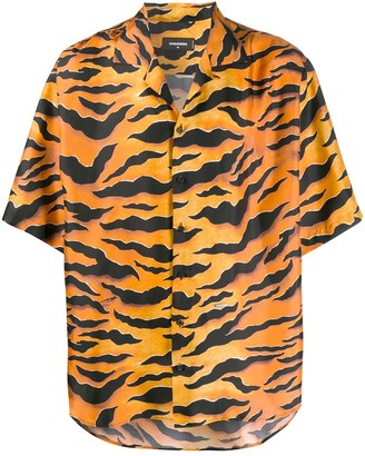 DSQUARED2 Silk Animal Print Shirt