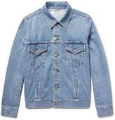 Remi Relief Slim-fit Distressed Denim Jacket - Blue