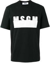 MSGM logo print T-shirt - men - Cotton - XL